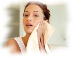 полотенце для умывания маслом